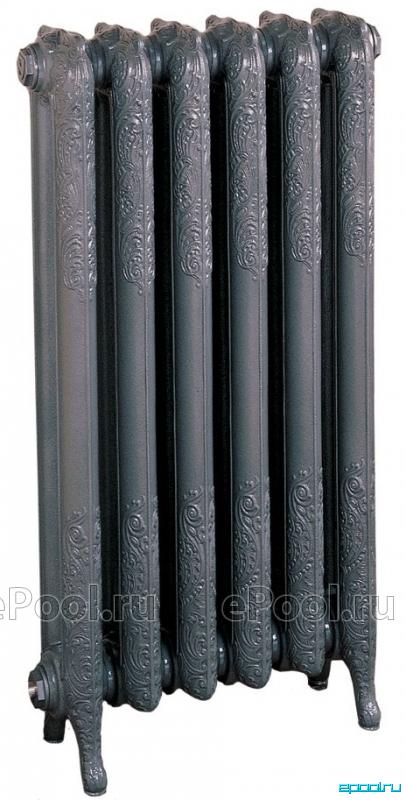 Радиаторы чугунные, стальные, стеклянные, биметаллические.  Guratec чугунный радиатор Apollo, 8 секций.