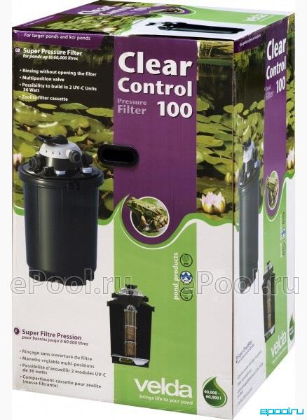 Сборка фильтра напорный velda clear control 75 с уф лампой 36 вт