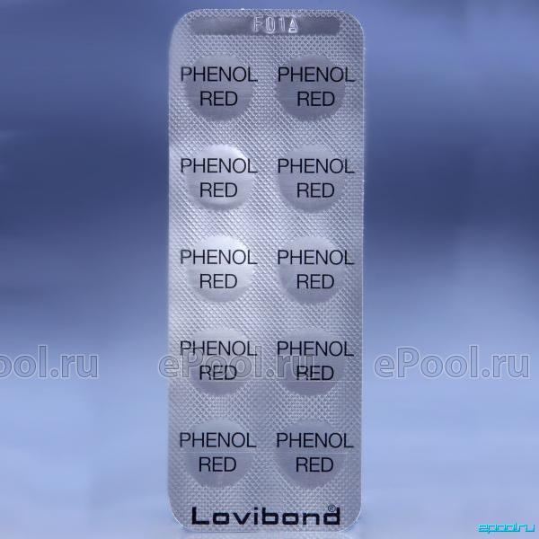 Таблетки для тестера Lovibond Phenol Red pH (Rapid) (100 шт), артикул  511790BT купить в Москве | Интернет-магазин Epool ru